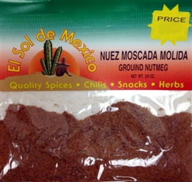 Picture of Ground Nutmeg - Nuez Moscada Molida by El Sol de Mexico 3/8 oz - Item No. 3695