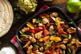 Picture of Turkey Fajitas Recipe - Item No. 372-turkey-fajitas