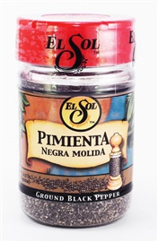 Picture of Ground Black Pepper - Pimienta Negra Molida by El Sol- Item No.37714-02009