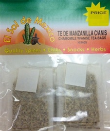 Picture of Chamomile with Anise Tea Bags by El Sol de Mexico- Item No.37714-manzanillaanis