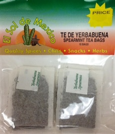 Picture of Te de Yerbabuena - Spearmint Tea Bags 10 bags - Item No. 37714-yerbabuena