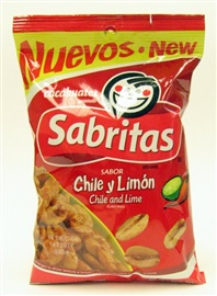 Picture of Sabritas Chile and Lime Peanuts - Cacahuates 7 oz (Pack of 3) - Item No. 37757