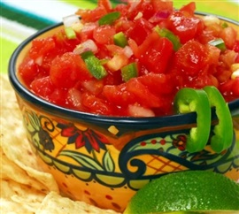 Picture of Fresh Lime Salsa Mexican Recipe- Item No.397-fresh-lime-salsa