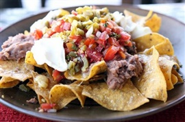 Picture of Chicken Picante Nacho  Mexican Recipe - Item No. 40-chicken-picante-nacho-platillo