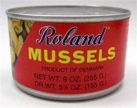 Picture of Mussels - Roland Mussels - Mejillones 9 oz - Item No. 41224-24106