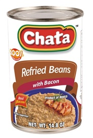 Picture of Chata Refried Beans with Bacon 14.8 oz (Pack of 3)- Item No.41319-00122