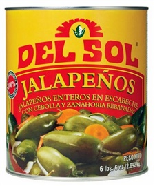 Picture of Del Sol Whole Jalapenos #10 can - Item No. 42434-00112