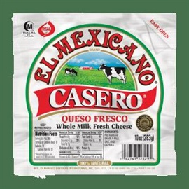 Picture of Queso Fresco Casero El Mexicano - Whole Milk Cheese 100% Natural Tri-Pack - Item No. 42743-12301
