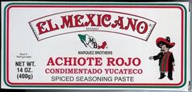 Picture of Achiote Rojo Condimentado Yucateco - Spiced Seasoning Red Achiote Paste by El Mexicano 14 oz- Item No.42743-20045