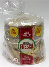"Picture of Corn Tortillas - Thick Corn Tortillas by La Tortilla Fresca - 6"" - Six Dozen Pack - Item No. 44946-28197"