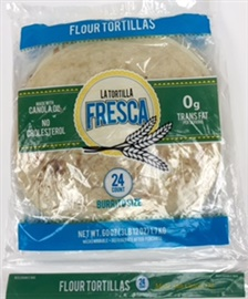 "Picture of Burrito Size Flour Tortillas by La Tortilla Fresca - 10"" - Two Dozen in Pack - Item No. 44946-50680"