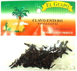 Picture of Whole Cloves - Clavo Entero 1/4 oz - Item No. 44989-33010