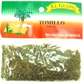 Picture of Thyme Leaves - Tomillo 0.5 oz- Item No.44989-33116