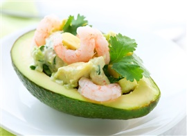 Picture of Shrimp in Avocado Boats Mexican Recipe - Item No. 470-shrimp-in-avocado-boats