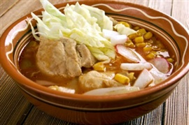 Picture of Menudo or Pozole Mexican Recipe - Item No. 473-menudo-or-pozole