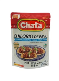 Picture of Seasoned Shredded Turkey Chilorio in Pouch by Chata 8.8 oz- Item No.501023-535034
