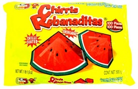Picture of Chirris Rebanaditas Watermelon with Chilli Hard Candy 100 pieces - Item No. 502225-960068