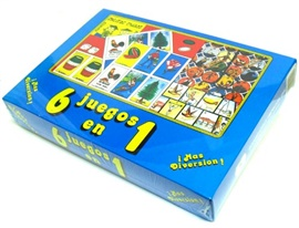 Picture of 6 Juegos en 1 Juego para Ninos 1 unit- Item No.50409-220458