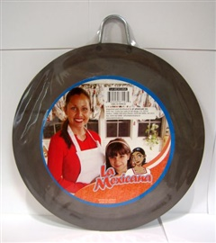 Picture of Comal de Fierro Redondo#3 / Round Skillet Comal #3 - Metal Plate Griddle - Item No. 50409-87118