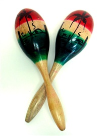 Picture of Maracas Tricolor Grande / Large Tri-Color Maracas 2 units - Item No. 50409-87119