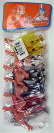 "Picture of Wrestling plastic toy figures (6 pack) 3""x2"" - Item No. 50409-87135"