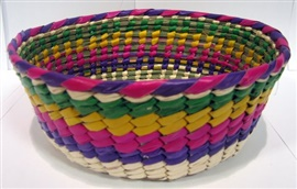 Picture of Canasto de Palma de Colores / Palm Tortilla Warmer Basket - Item No. 50409-87145