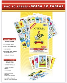 Picture of Loteria Mexicana 10 tablas - Mexican Bingo Game - 10 playing cards- Item No.50409-87175