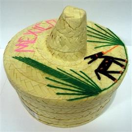 Picture of Tortillero de Sombrero Mediano / Palm Tortilla Warmer Basket (Hat Style)- Item No.50409-87286
