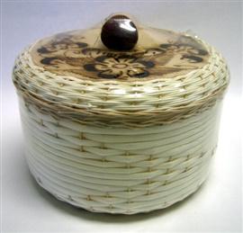 Picture of Tortillero de Mimbre Pirograbado / Burned Wicker Tortilla Warmer- Item No.50409-87320