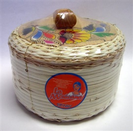 Picture of Tortillero de Mimbre Pintado / Painted Wicker Tortilla Warmer - Item No. 50409-87321