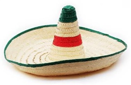 """Picture of Sombrero Zapata - Large Hat Mexican Sombrero - 28"""" D x 13"""" H- Item No.50409-87336"""