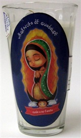 Picture of Veladora Virgencita de Guadalupe - Cuida a mi Familia - Virgin of Guadalupe Candle (Pack of 6) - Item No. 50409-87476
