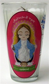 Picture of Veladora Virgencita de la Paz - Cuidanos - Our Lady of Peace Candle (Pack of 6) - Item No. 50409-87477