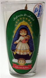 Picture of Veladora Virgencita del Carmen - Cuida a mis Abuelitos - Our Lady of Carmen (Pack of 6) - Item No. 50409-87480