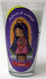 Picture of Veladora Virgencita de Guadalupe - Cuidame - Our Lady of Guadalupe Candle (Pack of 6) - Item No. 50409-87552