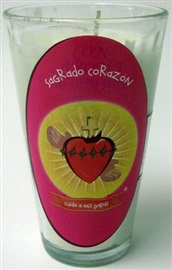 Picture of Veladora del Sagrado Corazon - Cuida a mis Papas - Sacred Heart Candle (Pack of 6) - Item No. 50409-87553