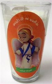 Picture of Veladora Angel de la Guarda Cuidame Siempre - Guardian Angel Candle (Pack of 6)- Item No.50409-87555