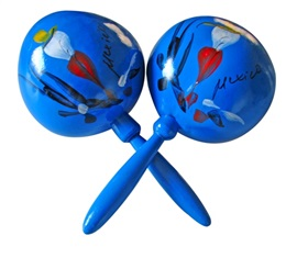 Picture of Large Blue Huaje Maracas - Item No. 50409-88627