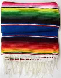 "Picture of Sarape Mexico Grande - Large Colorful Mexican Blanket - 45"" x 80"" - Item No. 50409-sarape"