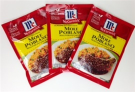 Picture of Mole Poblano Sauce Mix by McCormick (Pack of 3) - Item No. 52100-01824
