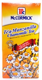 Picture of McCormick Chamomile Tea Caffeine Free Manzanilla (1.06 Oz.) 25 Tea Bags - Item No. 52100-37149