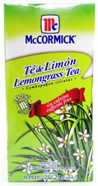 Picture of McCormick Lemongrass Tea Caffeine Free (0.89 Oz.) 25 Tea Bags - Item No. 52100-37150