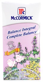 Picture of McCormick Tea Complete Balance Herbal Infusion (1.32 Oz.) 25 Tea Bags - Item No. 52100-73721
