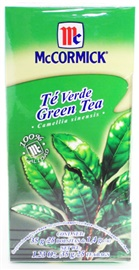 Picture of McCormick Green Tea (1.23 Oz.) 25 Tea Bags - Item No. 52100-73725
