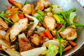 Picture of Beach Fajitas - Chicken, Beef or Shrimp Mexican Recipe - Item No. 532-fajitas-chicken-beef-or-shrimp