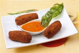 Picture of Chicken Croquettes - Croquetas de Pollo Mexican Recipe - Item No. 547-chicken-croquettes-croquetas-de-pollo