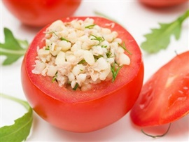 Picture of Tuna Salad Stuffed Tomatoes Recipe - Item No. 565-tuna-salad-stuffed-tomatoes