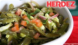 Picture of Cactus Salad Mexican Style Recipe - Ensalada de Nopalitos - Item No. 566-cactus-salad-ensalada-de-nopalitos