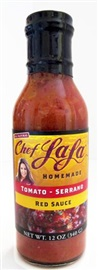 Picture of Chef LaLa Homemade Tomato-Serrano Red Sauce - Item No. 56993-00200