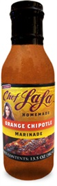 Picture of Chef LaLa Homemade Orange Chipotle Marinade Sauce - Item No. 56993-00206